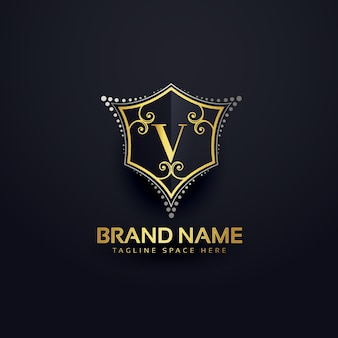 Modelo de design v logotipo carta