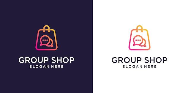 Modelo de designs de logotipo da loja online