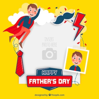 Modelo de dia dos pais para colar a imagem