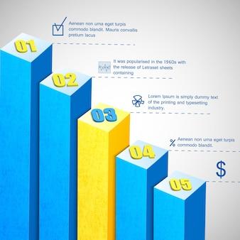 Modelo de diagrama de barra de negócios