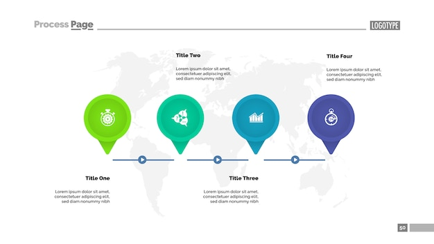 Modelo de diagrama de cronograma de quatro etapas. dados da empresa. gráfico, gráfico