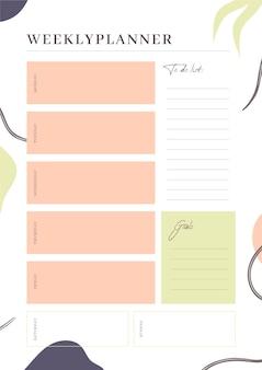 Modelo de diário de planilha semanal