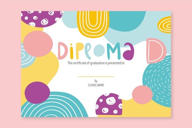 Modelo de diploma escolar