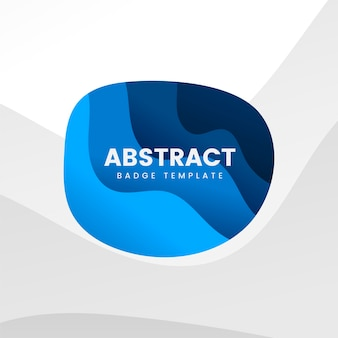 Modelo de distintivo abstrato em azul