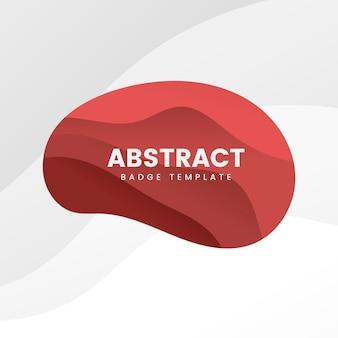 Modelo de distintivo abstrato em vermelho