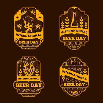 Modelo de distintivos de dia internacional da cerveja