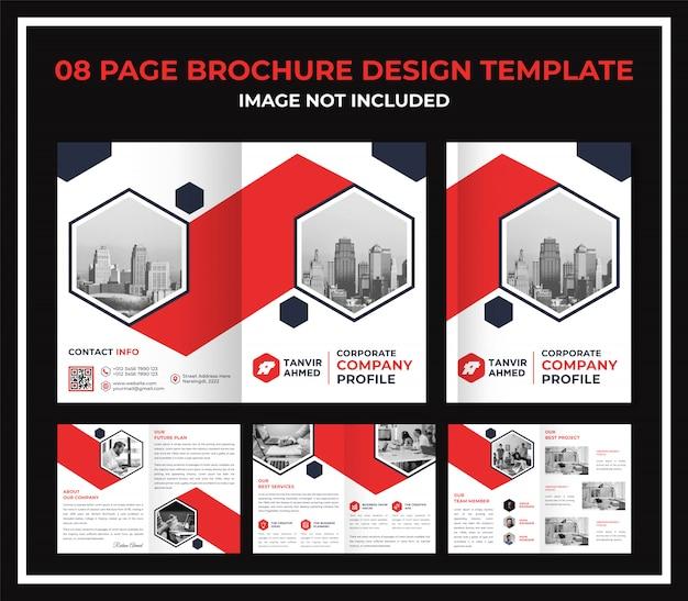 Modelo de dossiê de catálogo de brochura de página corporativa
