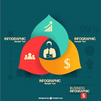 Modelo de download gratuito de negócios infográfico