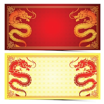 Modelo de dragão chinês