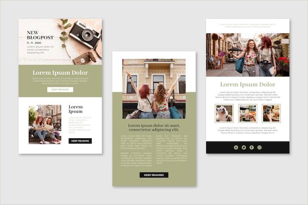 Modelo de e-mail de blogueiro moderno com foto