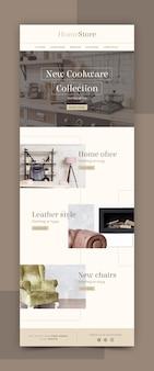 Modelo de e-mail de comércio eletrônico criativo com fotos