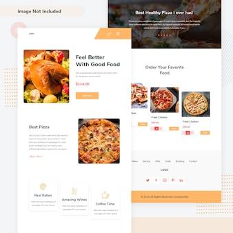Modelo de e-mail para pedido de comida on-line