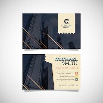 Modelo de edifícios escuros de cartão de visita