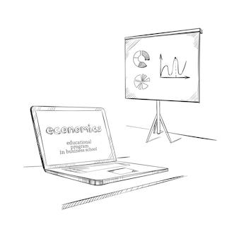 Modelo de educação desenhado à mão
