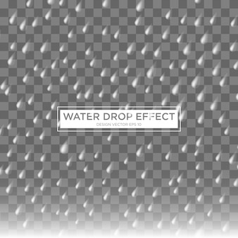 Modelo de efeito de água de gota de chuva