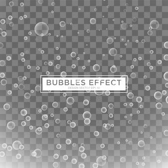 Modelo de efeito de bolhas de água