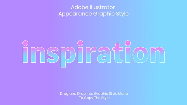 Modelo de efeito de estilo de texto de inspiração
