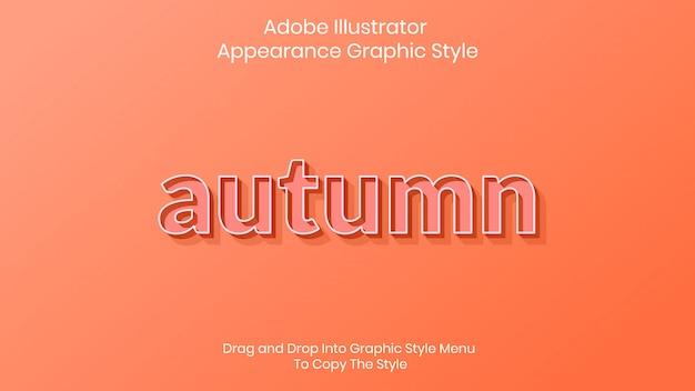 Modelo de efeito de estilo de texto de outono