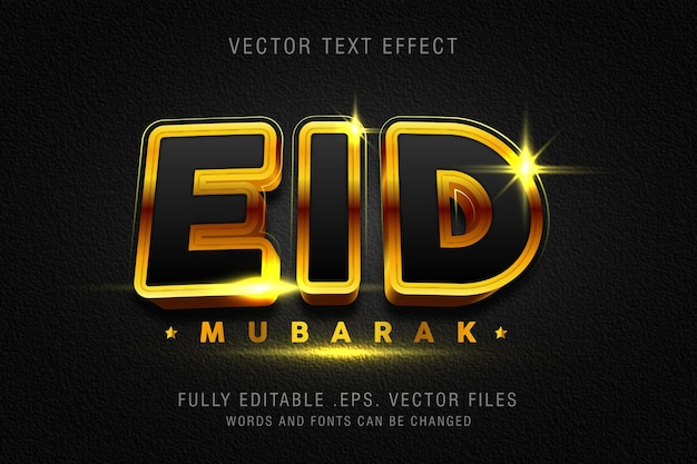 Modelo de efeito de estilo de texto eid mubarak