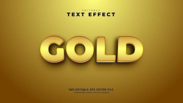 Modelo de efeito de texto 3d editável em cor dourada