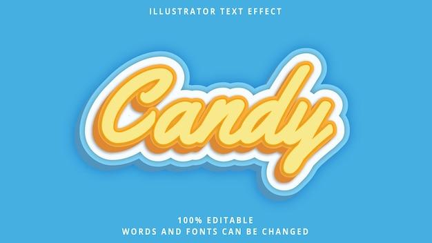 Modelo de efeito de texto 3d estilo doce