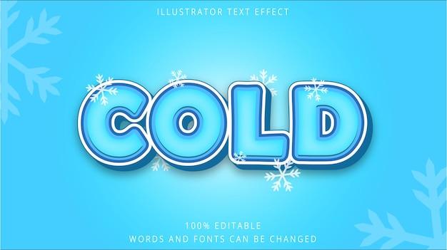 Modelo de efeito de texto 3d estilo frio