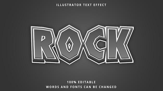 Modelo de efeito de texto 3d estilo rock