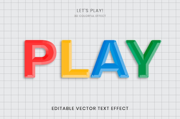 Modelo de efeito de texto colorido em papel quadriculado