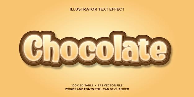 Modelo de efeito de texto de chocolate editável