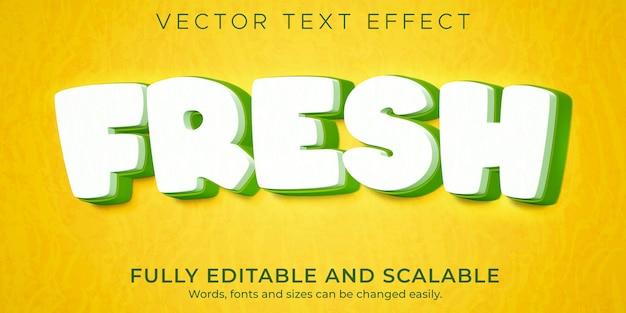 Modelo de efeito de texto de desenho animado fresco