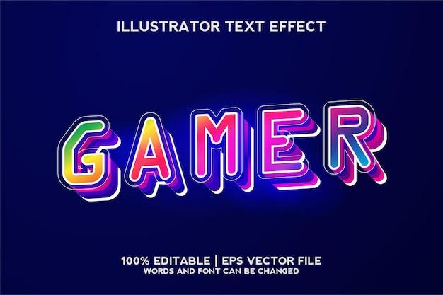 Modelo de efeito de texto de jogador