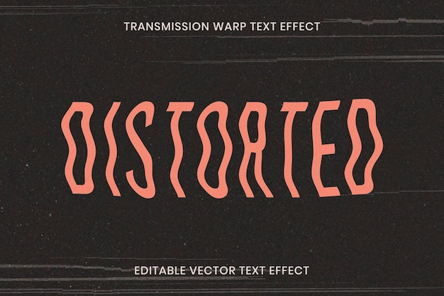 Modelo de efeito de texto distorcido editável