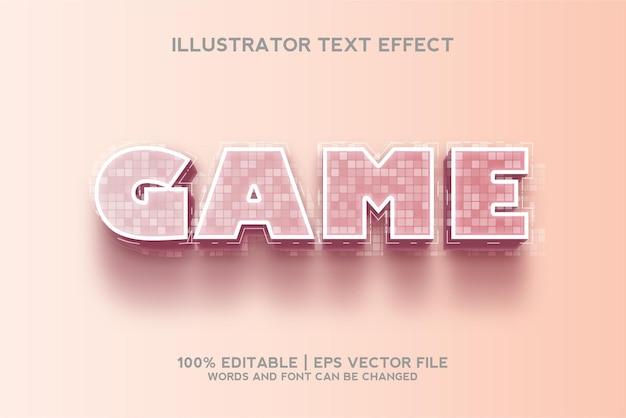 Modelo de efeito de texto do jogo em 3d