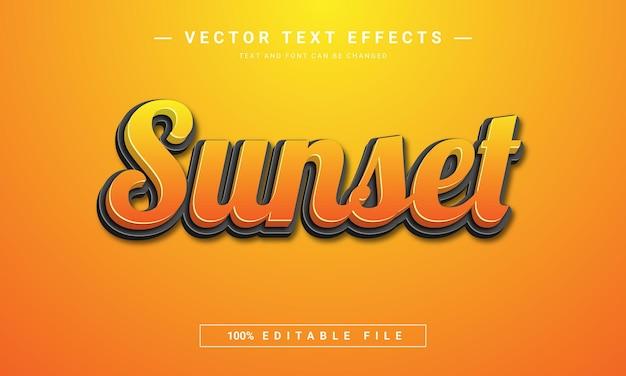 Modelo de efeito de texto do pôr do sol