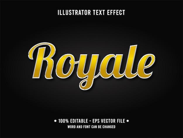 Modelo de efeito de texto editável amarelo cromo estilo real