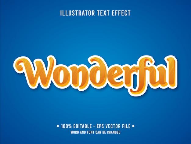 Modelo de efeito de texto editável amarelo maravilhoso estilo moderno