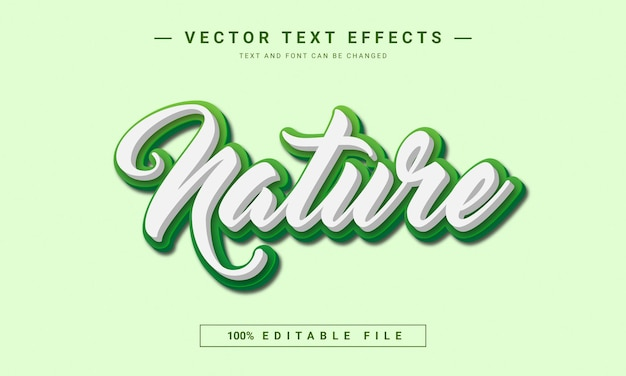 Modelo de efeito de texto editável da natureza