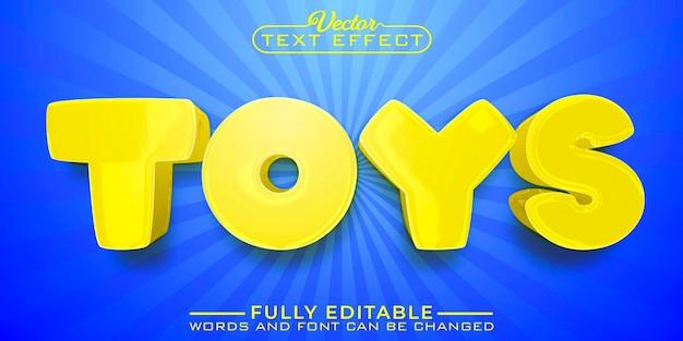 Modelo de efeito de texto editável da yellow toys
