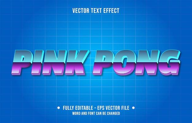Modelo de efeito de texto editável de estilo gradiente rosa pong rosa