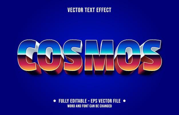 Modelo de efeito de texto editável de estilo retro gradiente cosmos