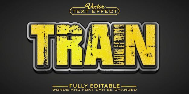 Modelo de efeito de texto editável de trem