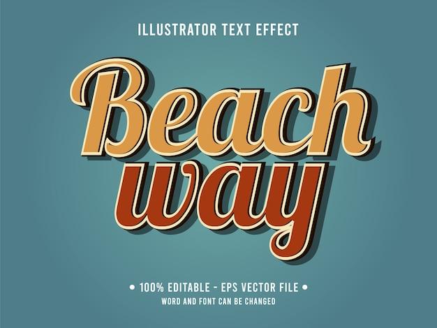 Modelo de efeito de texto editável do beach way