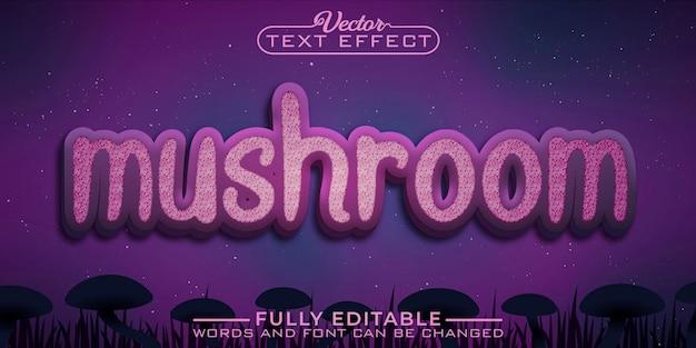 Modelo de efeito de texto editável do fantasy mushroom