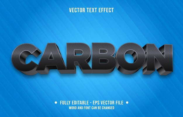 Modelo de efeito de texto editável estilo carbono preto