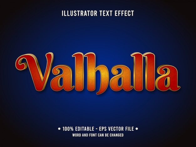 Modelo de efeito de texto editável estilo clássico de kingdom valhalla