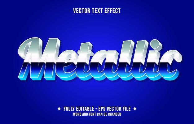 Modelo de efeito de texto editável estilo gradiente metálico azul