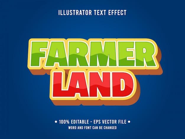Modelo de efeito de texto editável estilo jardim do agricultor verde