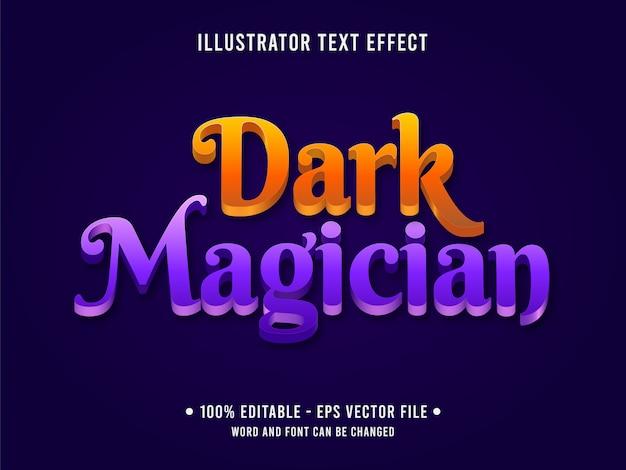 Modelo de efeito de texto editável estilo mágico roxo