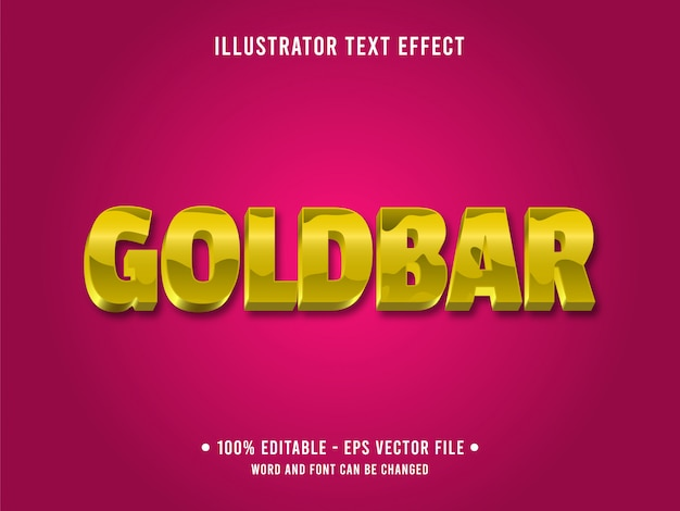 Modelo de efeito de texto editável estilo ouro amarelo brilhante