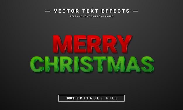 Modelo de efeito de texto editável feliz natal